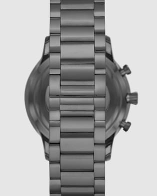 Emporio Armani Gunmetal Chronograph Watch - Watches (Grey)