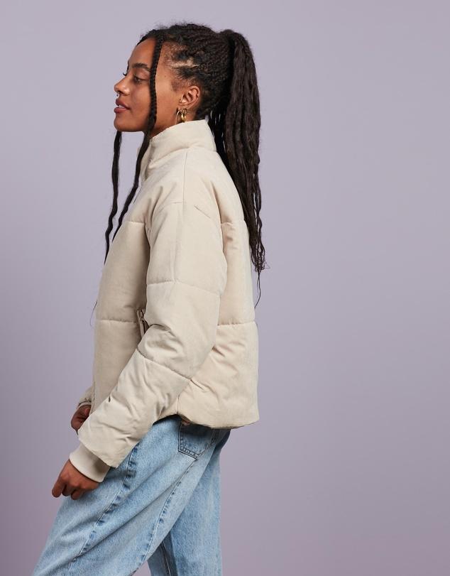 Women Peached Skin Co Ord Puffer Jacket