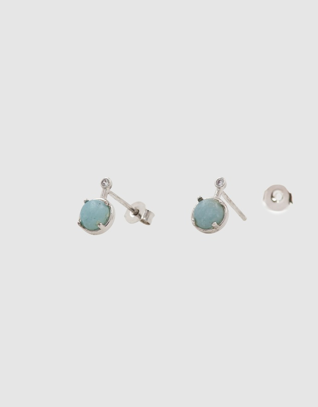 Women Simple Drop Amazonite Earrings