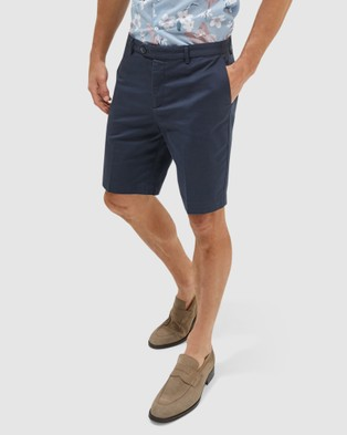 SABA Mateo Cotton Item Shorts - Chino Shorts (Navy)