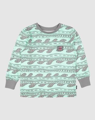 Billabong - Groms Rack Long Sleeve Tee Short T-Shirts (CHARCOAL)