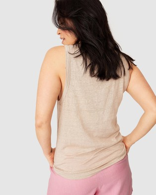 Ceres Life Linen Tank - Tops (Pebble)