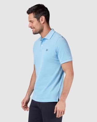 Blazer Liam Oxford Polo - Shirts & Polos (Aqua)