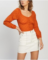 ONLY - Esther LS Cropped Woven Top