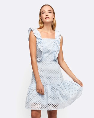 MVN – The Upper East Lace Dress Blue