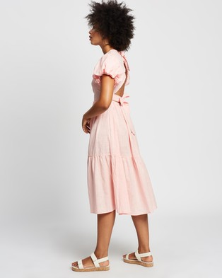 REVERSE Tie Back Midi Dress - Dresses (Pink)
