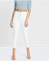 J Brand - Lillie High-Rise Crop Skinny Jeans