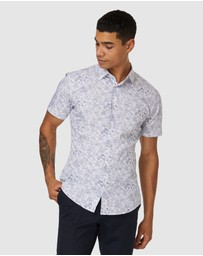 Jack London - Oxford Floral Short Sleeve Shirt