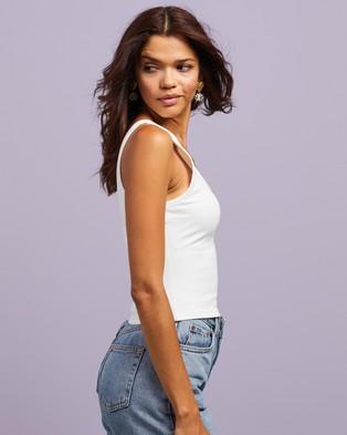 Dazie - Power To Her Singlet Top T-Shirts & Singlets (White)
