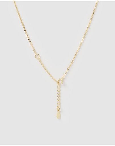 Izoa Sansa Embellished Evil Eye Necklace Gold