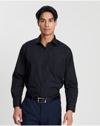 Van Heusen - Pointed Collar Long Sleeve Shirt with Classic Fit