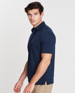 Gieves and Hawkes Short Sleeved Polo Shirt - Shirts & Polos (Navy)