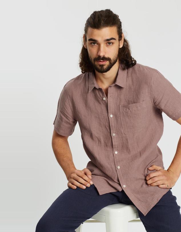 Men SS Linen Shirt