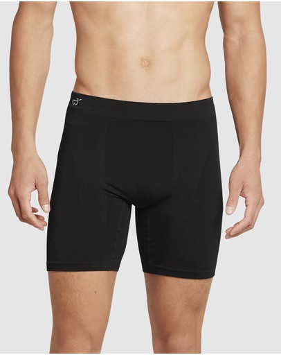 Boody Organic Bamboo Eco Wear - 7 Pack Mid Length Trunk Black