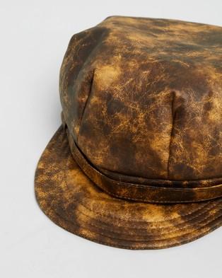 Max Alexander Newsboy Fashion Cap - Headwear (Mustard)
