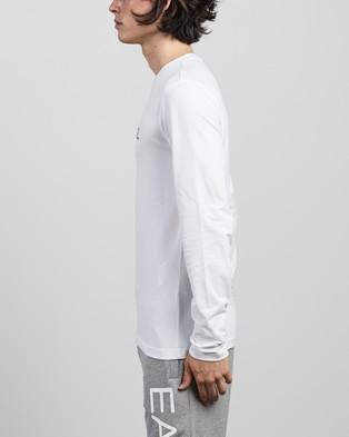Emporio Armani EA7 - Long Sleeve T Shirt T-Shirts & Singlets (White) T-Shirt