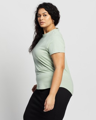 Cotton On Curve - The One Crew Tee - T-Shirts & Singlets (Lush Green) The One Crew Tee