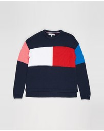 Tommy Hilfiger - Colourblock Flag Sweater - Teens