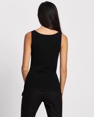 ARIS Curve Bust Knit Singlet - Tops (Black)