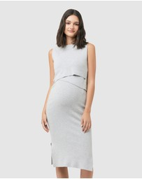 Ripe Maternity - Layered Knit Nursing Dress
