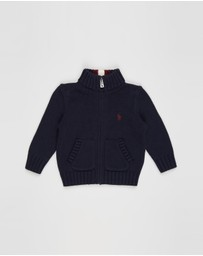 Polo Ralph Lauren - Long Sleeve Full-Zip Cotton Sweater - Babies