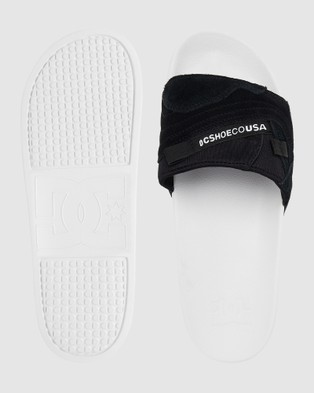 DC Shoes Mens Williams Sliders - Slippers & Accessories (Black/White)