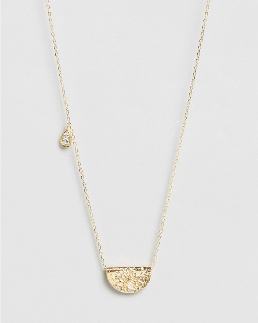 By Charlotte Calm Your Soul Lotus Birthstone Necklace March Jewellery Gold