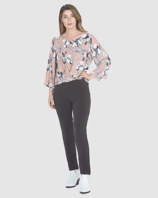 Faye Black Label Slim Leg 7 8th Pants - Pants (Chocolate)