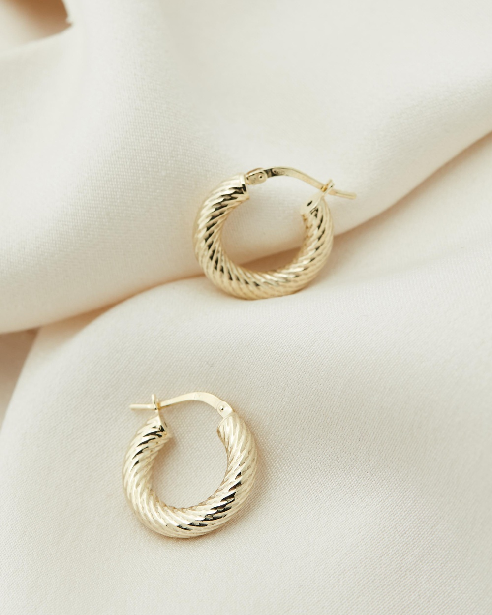 Medley Twisted Hoops Mini Jewellery 18ct Fine Yellow Gold Plated