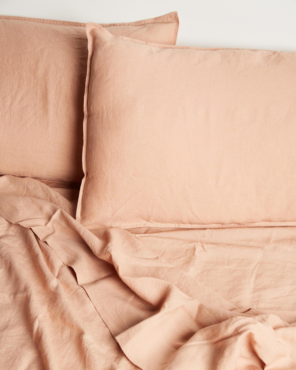 AERE Home Linen Fitted Sheet Blush