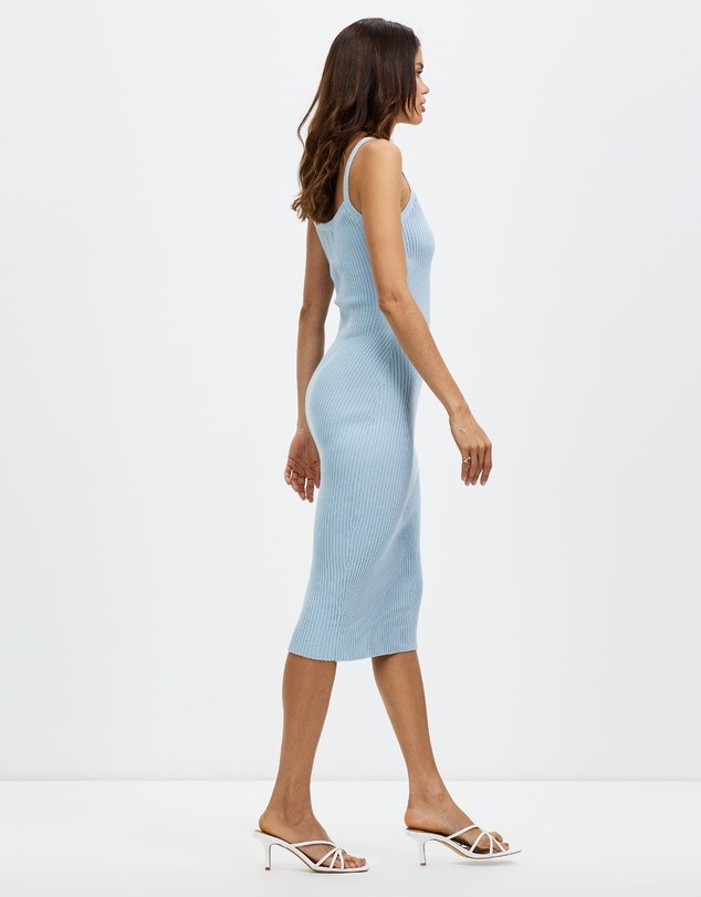 Women Ribbed Midi Dress