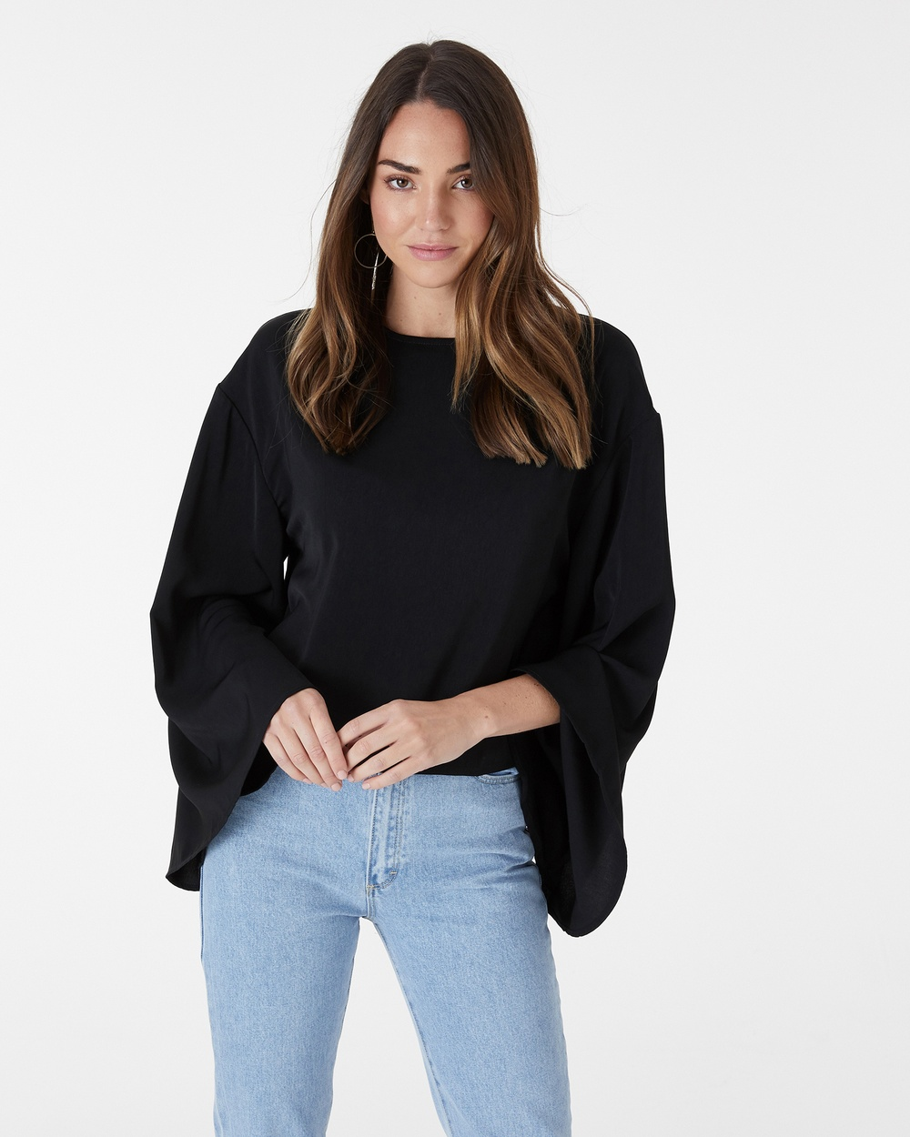 Everly Collective Walk On By Top Tops Black Walk On By Top