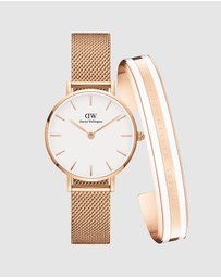 Daniel Wellington - Gift Set - Petite Melrose 28mm + Bracelet Satin Small