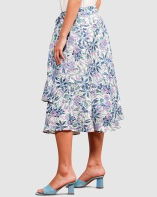 SACHA DRAKE Mission Beach Skirt - Skirts (Blue Botanical)