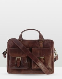 Cobb & Co - Soho Leather Laptop Briefcase