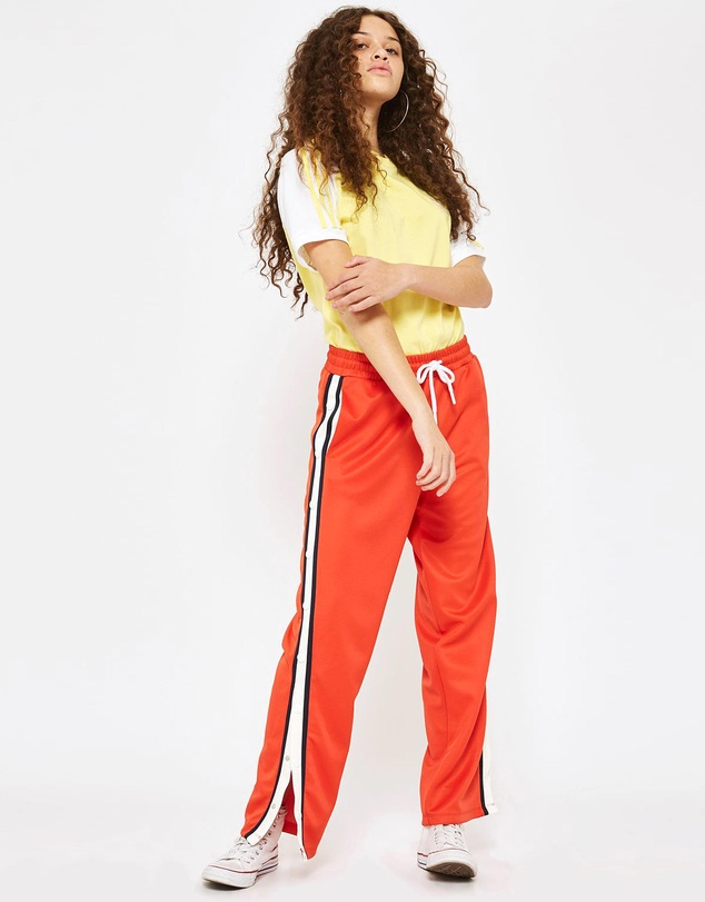 TOPSHOP Petite - PETITE Orange Popper Joggers