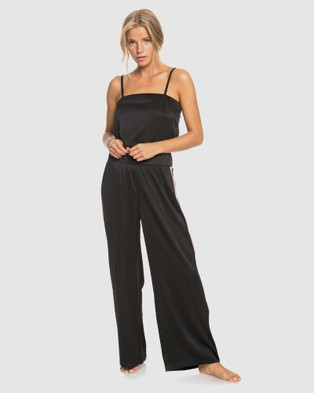 Roxy Womens Old News Satin Crop Top - Cropped tops (Anthracite)