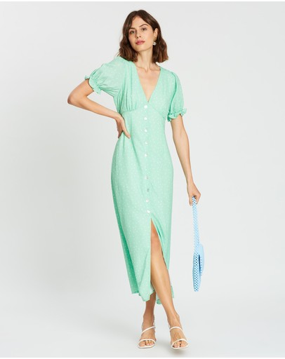 Charlie Holiday Jivin Dress Green Speckle