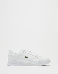 Lacoste - Twin Serve Leather Cupsole Sneakers