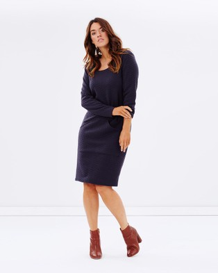 Hope & Harvest – Super Chic Hooded Dress Slate Slate