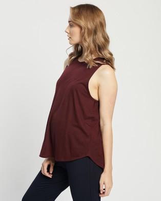 Cotton On Body Active - Maternity Curve Hem Tank Top Singlets (Mulberry)