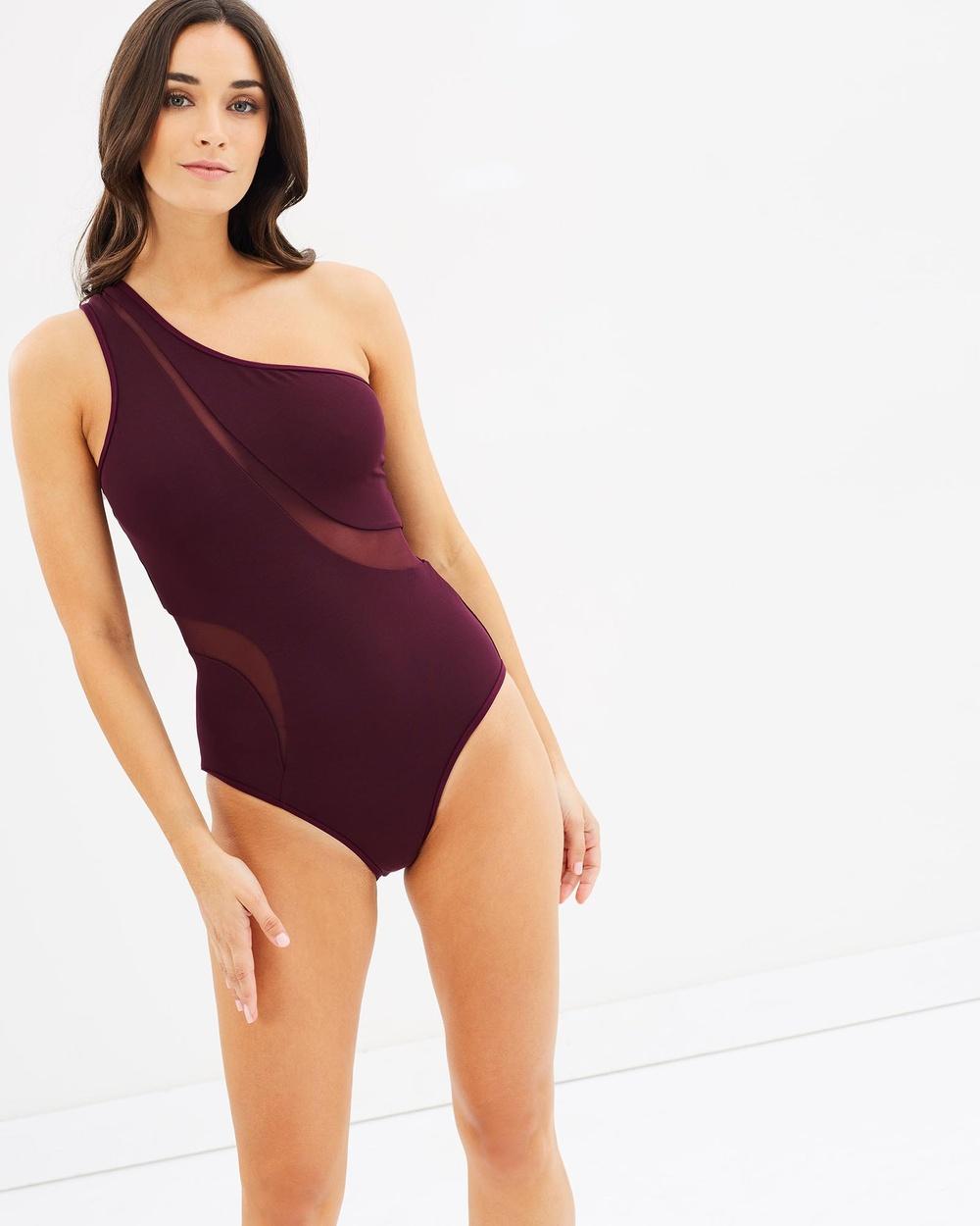 JETS Asymmetrical Swimsuit One-Piece / Swimsuit Claret Asymmetrical Swimsuit