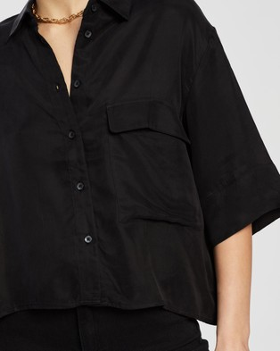 Nude Lucy Esme Cupro Shirt - Tops (Black)