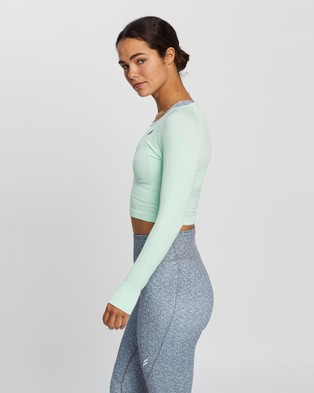 Doyoueven Air Seamless Cropped Long Sleeve - Long Sleeve T-Shirts (Mint)