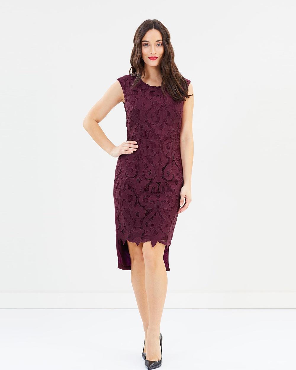 Pink Ruby Amalia Step Back Dress Dresses Burgundy Amalia Step Back Dress