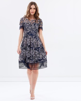 Review – Alicante Dress – Dresses (Navy & Oyster)