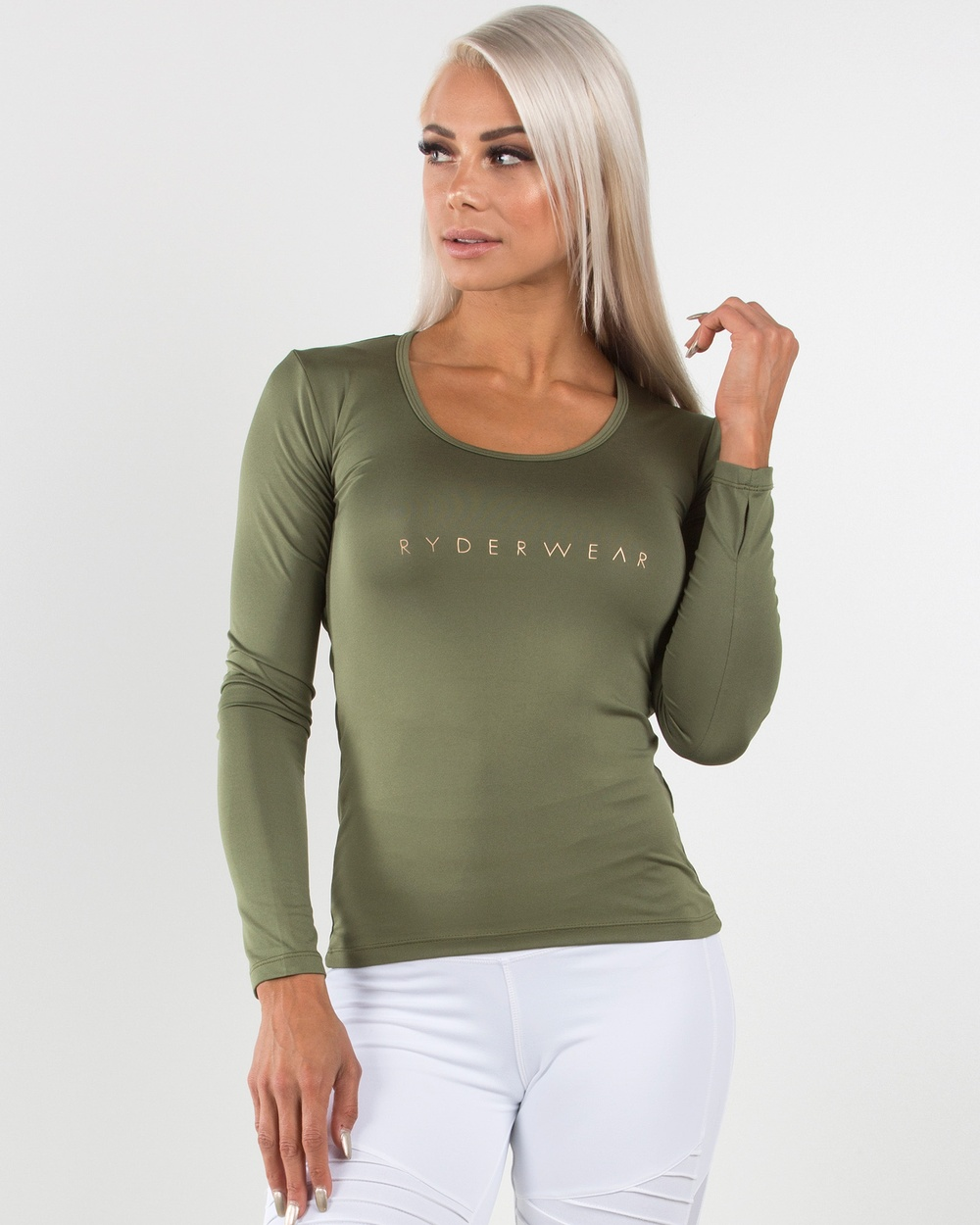 Ryderwear Highway Long Sleeve Top Tops Khaki Highway Long Sleeve Top