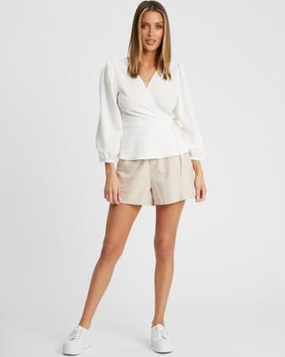 Calli Nala Wrap Top - Tops (White)