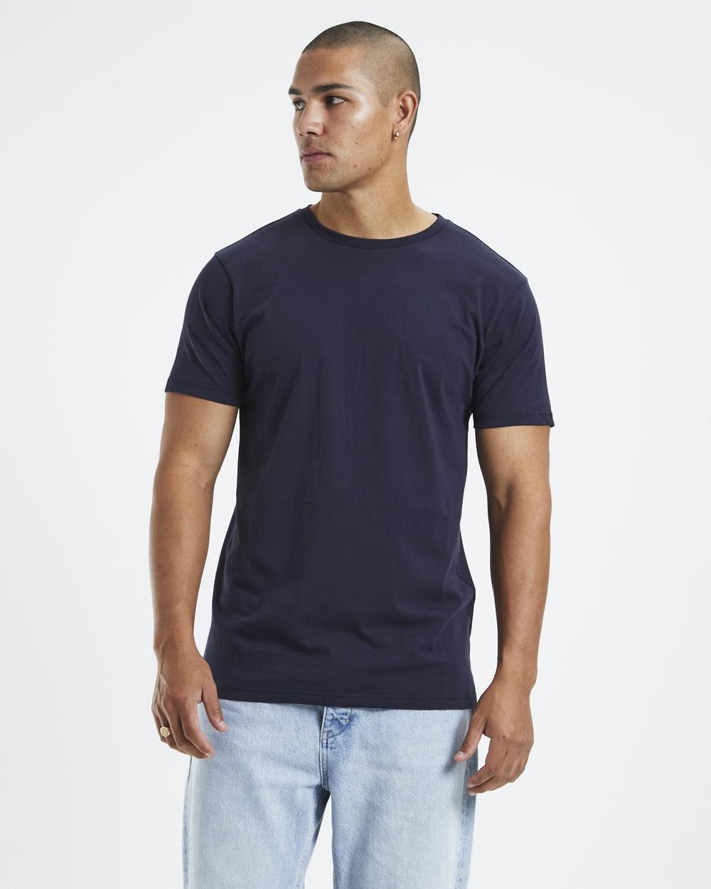 General Pants Co. Basics Basic Crew T Shirt Short Sleeve T-Shirts NAVY T-Shirt