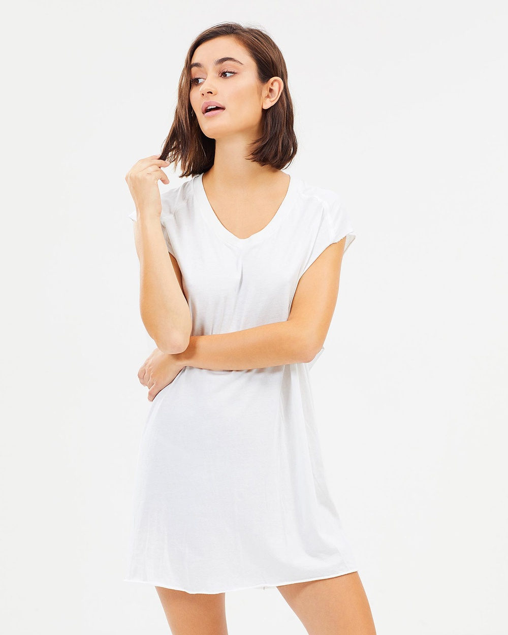Surrounded By Ghosts The Borax Muscle Tee Dress Dresses White The Borax Muscle Tee Dress